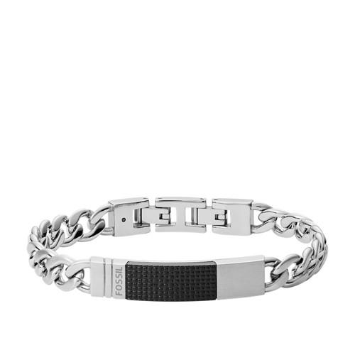 Plaque Silver-Tone Steel Bracelet JF03315040