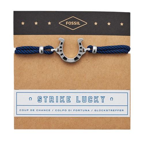 Fossil Strike Lucky Nylon Bracelet  jewelry JF03326040