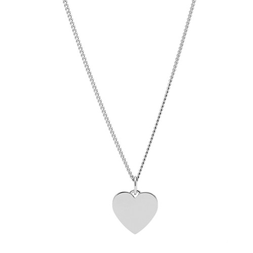 Engravable Heart Stainless Steel Necklace JF03330040