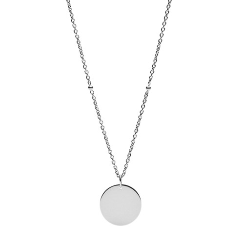 Engravable Disc Stainless Steel Necklace JF03331040