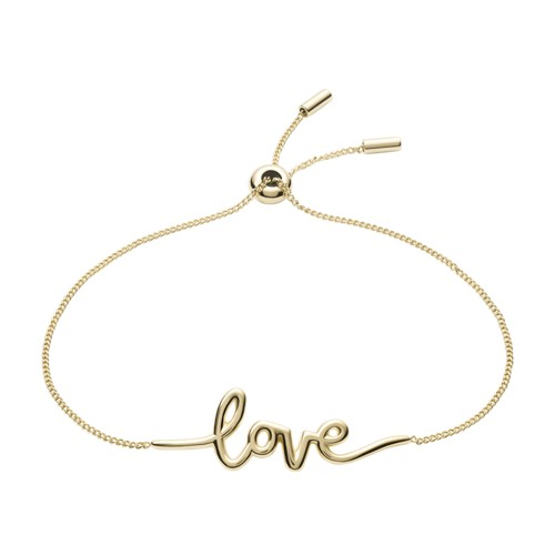 Love Collection Gold-Tone Stainless Steel Chain Bracelet JF03339710