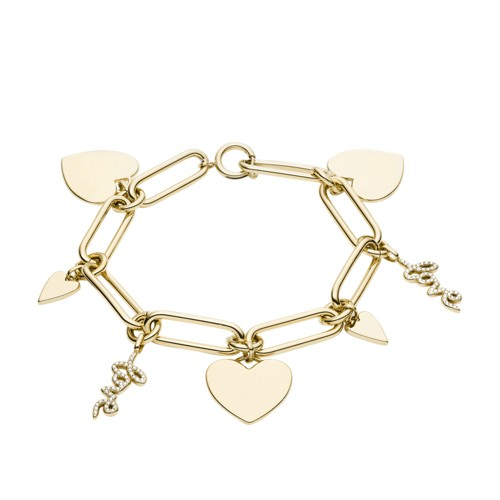 Love Collection Gold-Tone Stainless Steel Chain Bracelet JF03341710