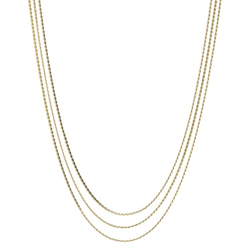 Gold-Tone Stainless Steel Multi-Strand Necklace JF03359710