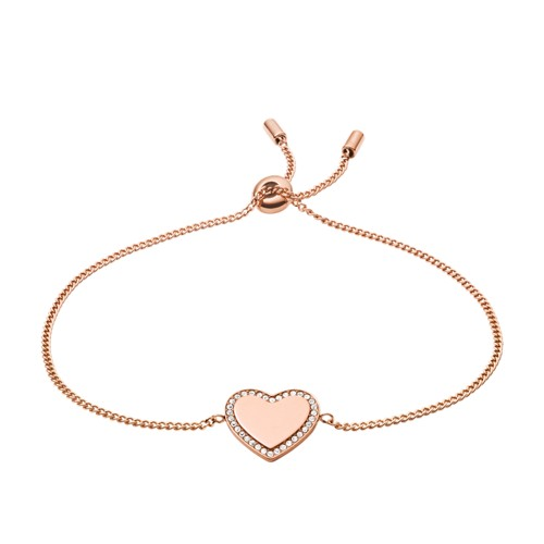 Be Mine Rose Gold-Tone Stainless Steel Chain Bracelet JF03361791