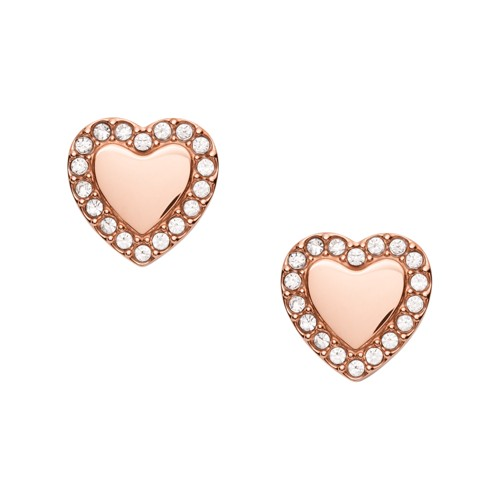 Be Mine Rose Gold-Tone Stainless Steel Stud Earrings JF03364791