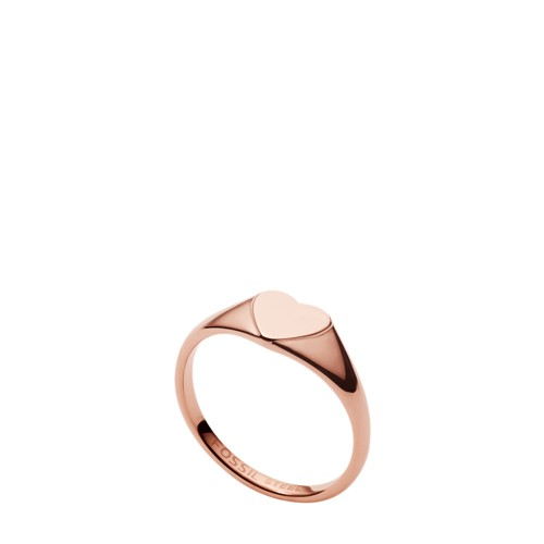 Be Mine Rose Gold-Tone Stainless Steel Signet Ring JF033667916.5