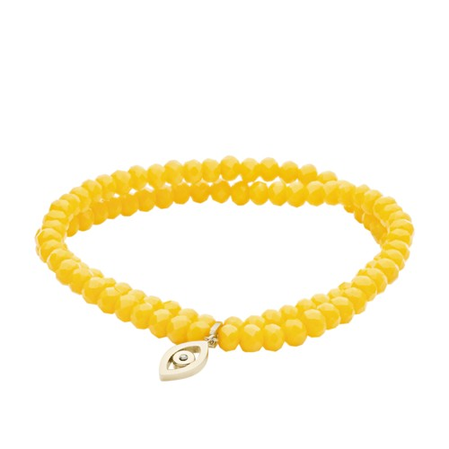 Evil Eye Citrus Beaded Bracelet JF03377710