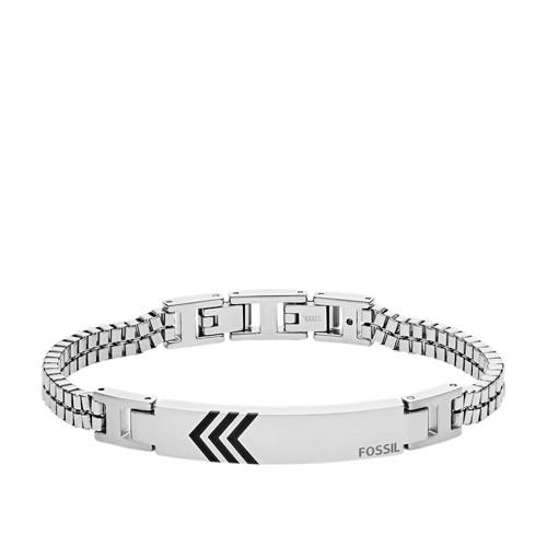 Fossil Stainless Steel Id Bracelet  jewelry SILVER
