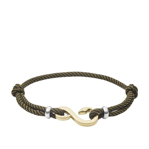 Serpent Gold-Tone Stainless Steel Station Bracelet JF03396716