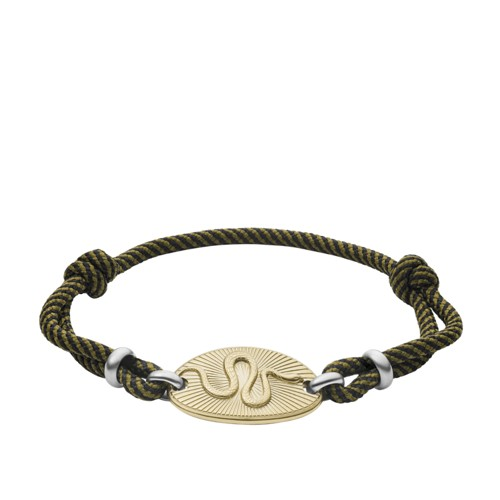 Serpent Gold-Tone Stainless Steel Station Bracelet JF03397716