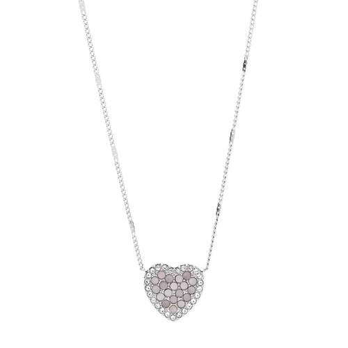 Mosaic Heart Stainless Steel Necklace JF03415040