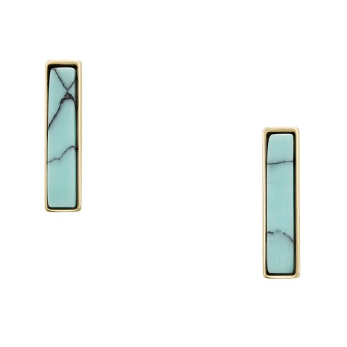 Fossil Modern Meadows Turquoise Earrings  jewelry GOLD