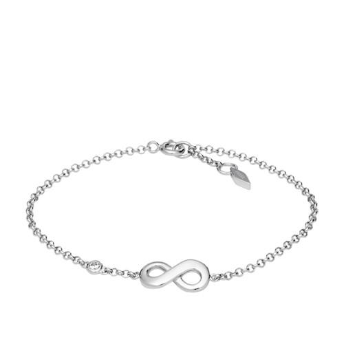 Fossil Infinite Love Sterling Silver Boxed Bracelet JFS00393040