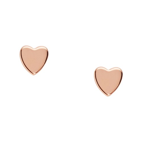 Fossil Mother's Day Heart Rose Gold-Tone Boxed Studs JFS00398791