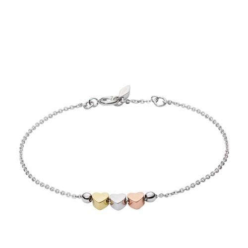 Fossil Mother's Day Heart Tri-Tone Boxed Bracelet JFS00399998