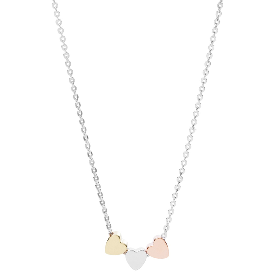 Fossil Mother&Apos;S Day Heart Tri-Tone Boxed Necklace Jfs00400998 Jewelry - JFS00400998-WSI