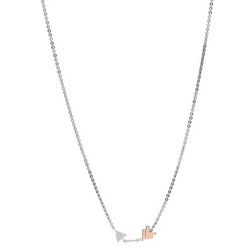 Fossil Sterling Silver Arrow Necklace Jfs00428998