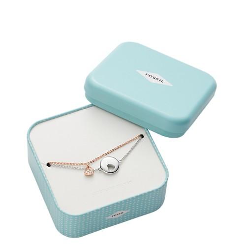 Fossil Duo Heart Two-Tone Sterling Silver Bracelets JFS00439998