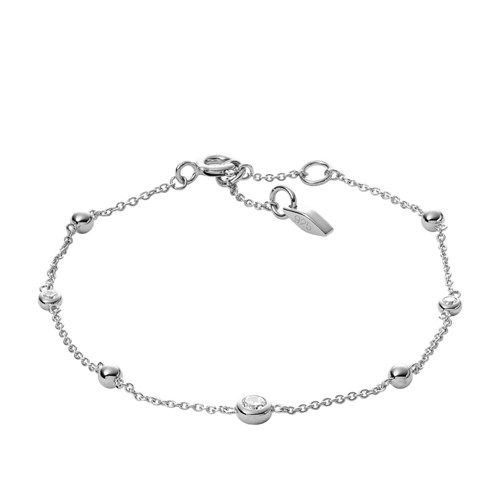 fossil Glitz Sterling Silver Bracelet JFS00452040