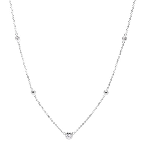 Glitz Sterling Silver Necklace JFS00453040