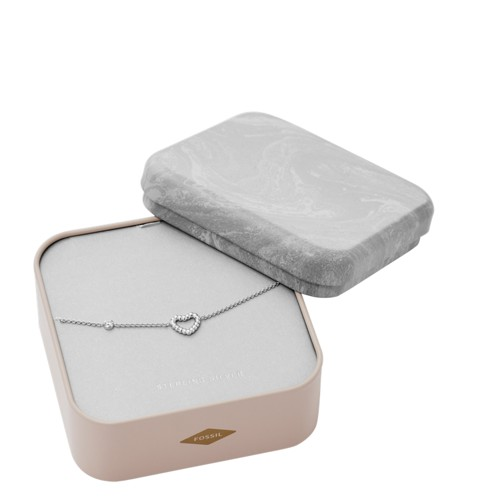 Open Heart Sterling Silver Bracelet Box Set JFS00458040