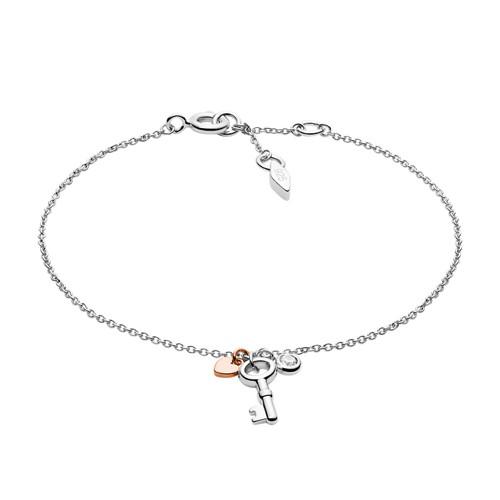 Vintage Key Sterling Silver Bracelet JFS00465998