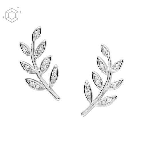 Olive Branch Sterling Silver Studs JFS00483040
