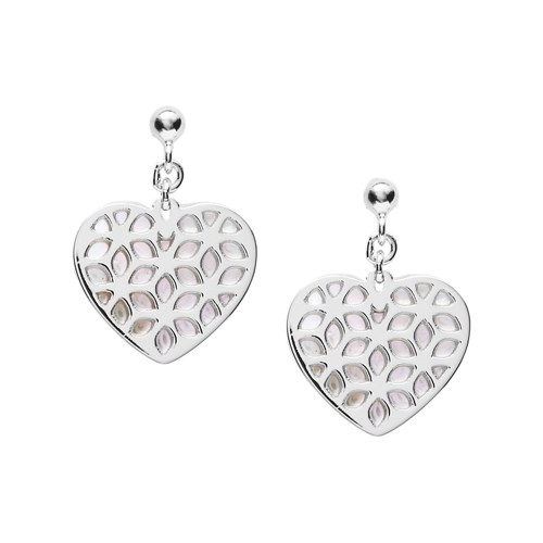 Fossil Heart Cutout Sterling Silver Earrings  jewelry SILVER