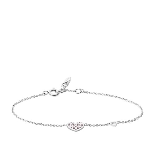 Heart Cutout Sterling Silver Bracelet JFS00490040