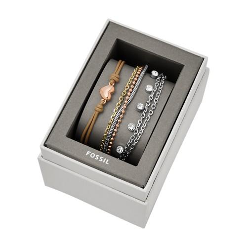 Fossil Tri-Tone Steel Bracelet Gift Set  jewelry JGFTSET1042