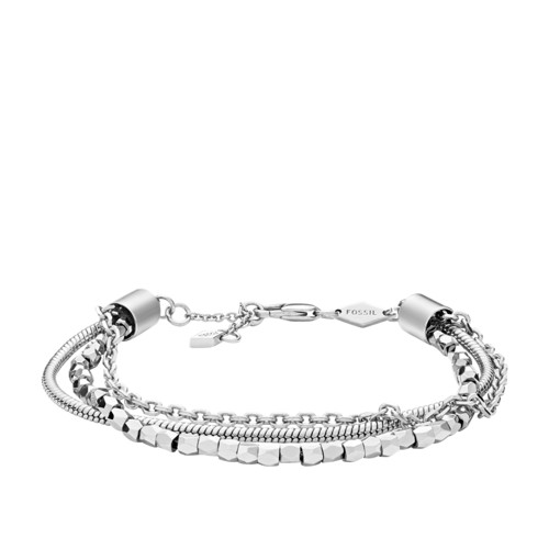 fossil Multi-Chain Silver-Tone Brass Bracelet JOA00088040