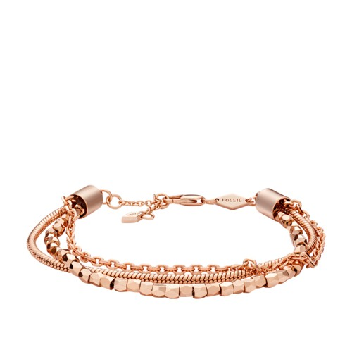 Multi-Chain Rose Gold-Tone Brass Bracelet JOA00090791