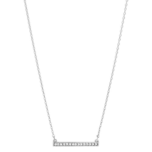 Fossil Bar Silver-Tone Brass Necklace  jewelry JOA00110040