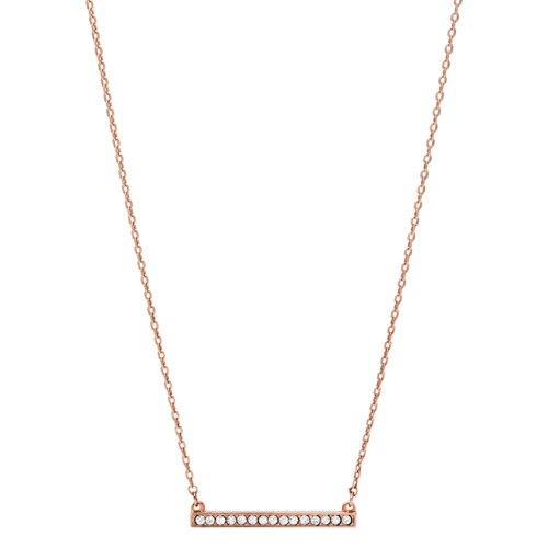 fossil Bar Rose Gold-Tone Brass Necklace JOA00112791