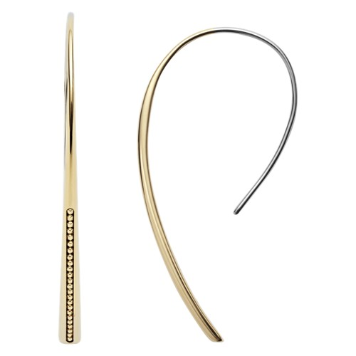 fossil Drop Gold-Tone Brass Pull-Through Earrings JOA00228710