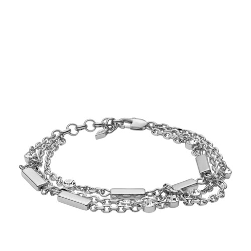 Multi-Chain Silver-Tone Brass Bracelet JOA00436040