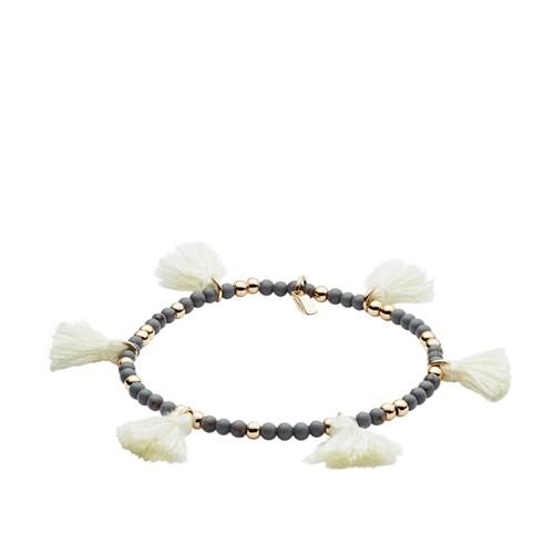 fossil Gold-Tone Fringe Calcite Beaded Bracelet JOA00501710
