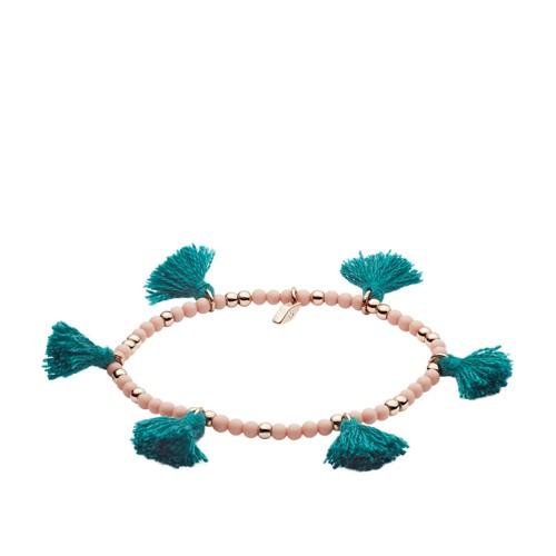 fossil Turquoise Fringe Calcite Beaded Bracelet JOA00502791