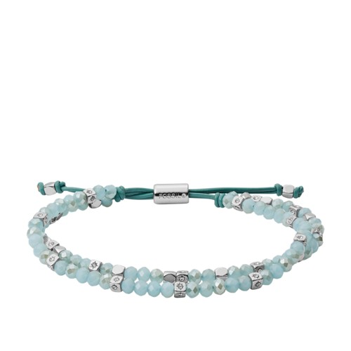 fossil Green Beaded Bracelet JOA00540040