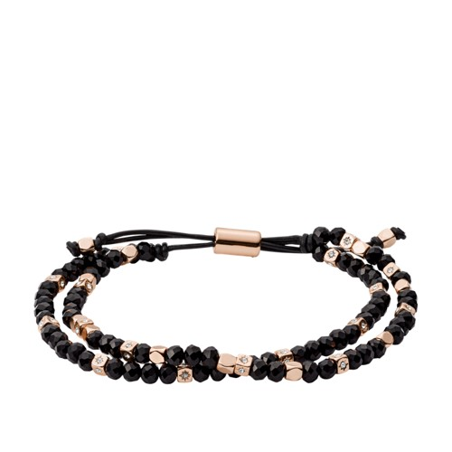 fossil Black Beaded Bracelet JOA00544791