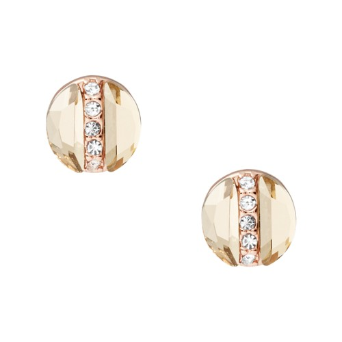 Rose Gold-Tone Brass Stud Earrings JOA00560791