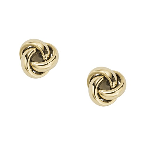 fossil Twisted Knot Gold-Tone Steel Studs JOF00121710