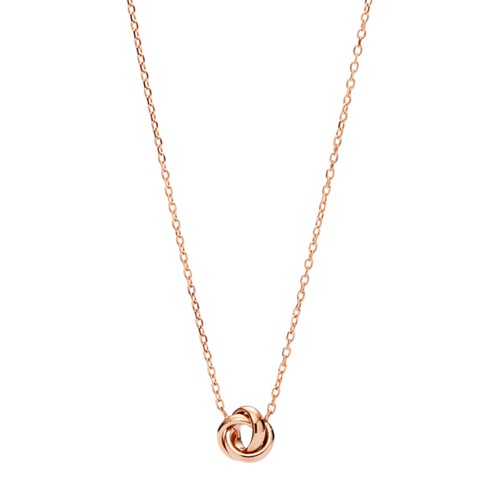 Flex Knot Rose Gold-Tone Steel Necklace JOF00134791