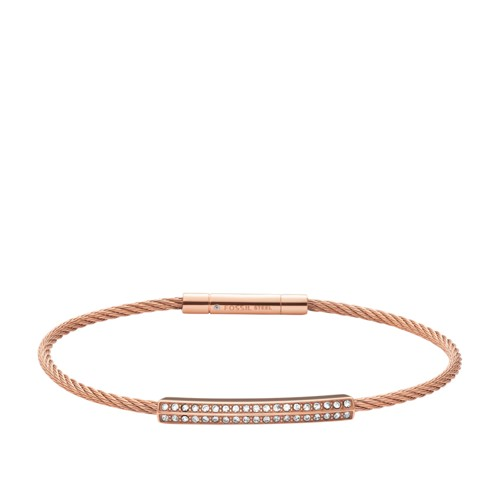 Fossil Bar Rose Gold-Tone Steel Bracelet  jewelry JOF00154791