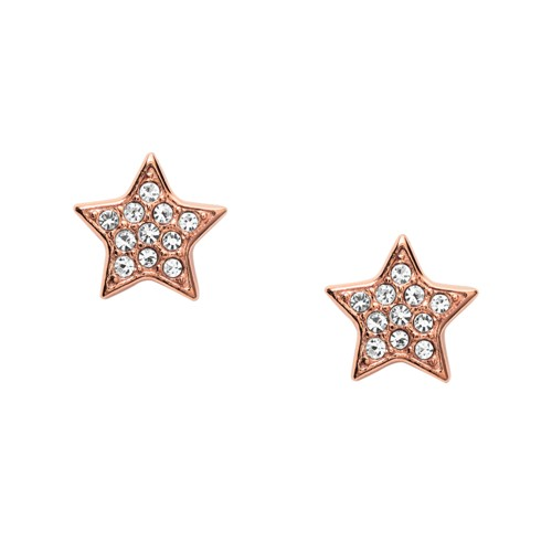 Fossil Star Rose Gold-Tone Steel Studs  jewelry JOF00293791