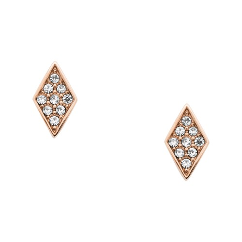 fossil Diamond Rose Gold-Tone Stainless Steel Studs JOF00404791