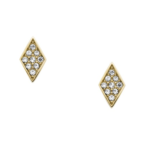 fossil Diamond Gold-Tone Stainless Steel Studs JOF00405710