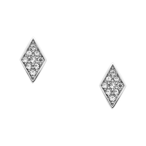 fossil Diamond Stainless Steel Studs JOF00406040