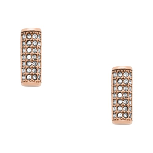 fossil Bar Rose Gold-Tone Stainless Steel Studs JOF00407791
