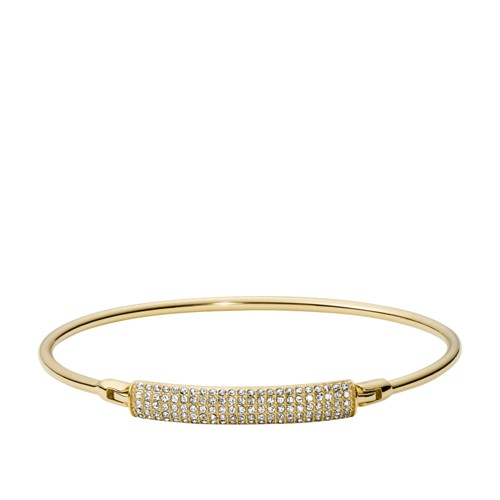 fossil Bar Gold-Tone Stainless Steel Bangle JOF00416710